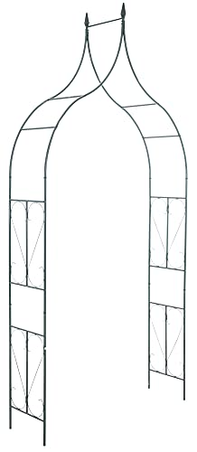 CLP Arco De Flores De Metal | Soporte De Plantas En Estilo Rústico | Arco Decorativo para Plantas Enredaderas I Arco para Eventos I Color: P.: 40 cm, AN.: 140 cm, AL.: 240 cm