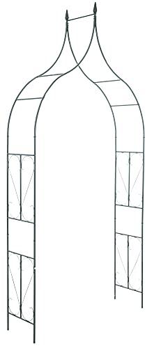 CLP Arche A Rosiers 40 cm I Treilli De Jardin en Métal Solide I Support pour Plantes Grimpantes pour Fixation Au Sol, Couleur:Vert