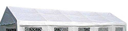 DEGAMO Ersatzdach Dachplane für Zelt 4x10 Meter, PE Weiss 180g/m², incl. Spanngummis …