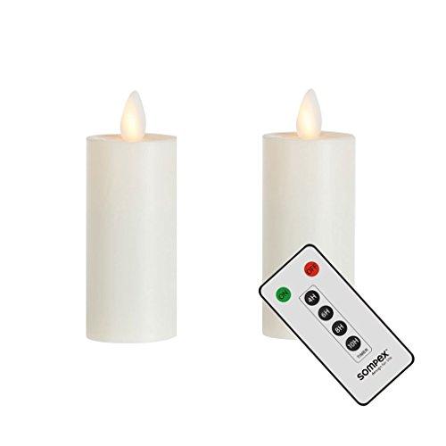 sompex 2er Set Flame LED XL Teelichter XL mit Fernbedienung