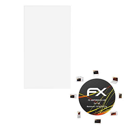 atFolix Schutzfolie kompatibel mit HP Notebook 15-db0701ng Bildschirmschutzfolie, HD-Entspiegelung FX Folie (2X)