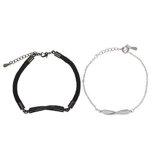 Hot Jewelry - Pulsera de regalo para el día de San Valentín, cuerda trenzada (hombres y mujeres)