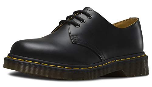 Dr. Martens 1461, Unisex-Erwachsene Derbys, Schwarz (Black Smooth/Orange), 37 EU