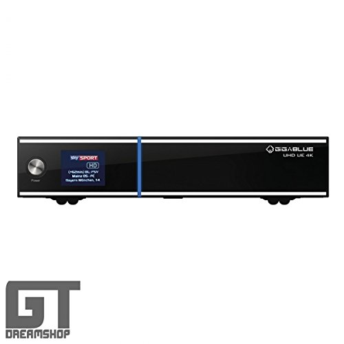 GigaBlue UE UHD 4K 2X DVB-S2 FBC Sat Tuner E2 Linux Receiver inkl. 1000GB HDD