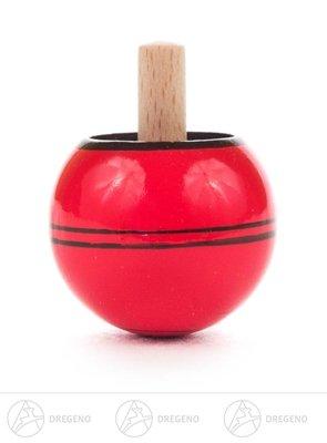 Spielzeug Steh-Auf-Kreisel rot Höhe ca 4,5 cm NEU Erzgebirge Kreisel Holzkreisel