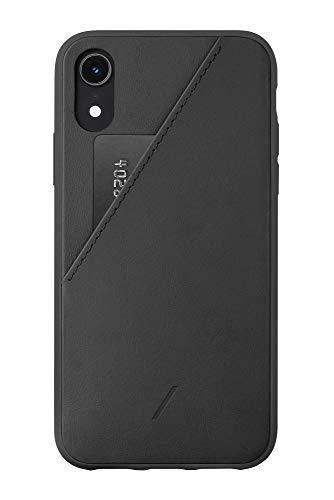 NativeUnionClicCardCaseiPhoneXR対応-レザー本革カードポケット付きスマホケース(ブラック)