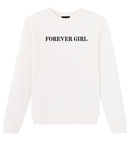 Ariana Grande Forever Girl Dangerous Woman Sweatshirt Pullover White Medium