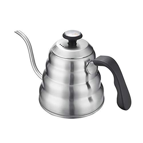 Tetera de café de 1,2 litros con termómetro, boquilla de cuello de...