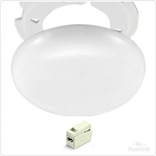 Lampen Abzweigdosen, Verteilerdose,Baldachin weiß, superflach, Ø 100, Höhe 1,5 cm - mit Anschlussklemmen und Montage Set