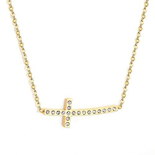 Collar Colgante Joyería Conjunto De Collares Colgantes De Color Dorado con Circonita Estrella, Collar De Gargantilla De Acero Inoxidable para Niña, Collar para Mujer-1