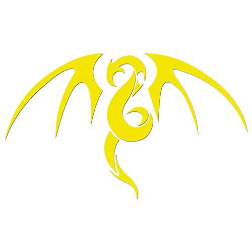 JCM ¨ zum Aufbügeln, Motiv Tribal Drachen, Neon-Gelb