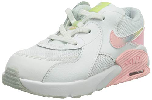 Nike Jungen Unisex Kinder Air Max Excee Sneaker, White/Multi-Color-Pure Platinum-Arctic Punch, 19.5 EU
