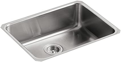 KOHLER K-3332-NA Undertone Extra-Large Squared Undercounter Kitchen Sink, Stainless Steel