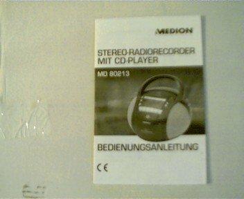 Bedienungsanleitung: Stereo-Radiorecorder Mit CD-Player, Medion MD 80213,