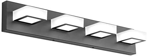 Ralbay LED Black Vanity Lights 4 Lights Acrylic Bathroom Vanity Lighting Fixtures Modern Matte product image