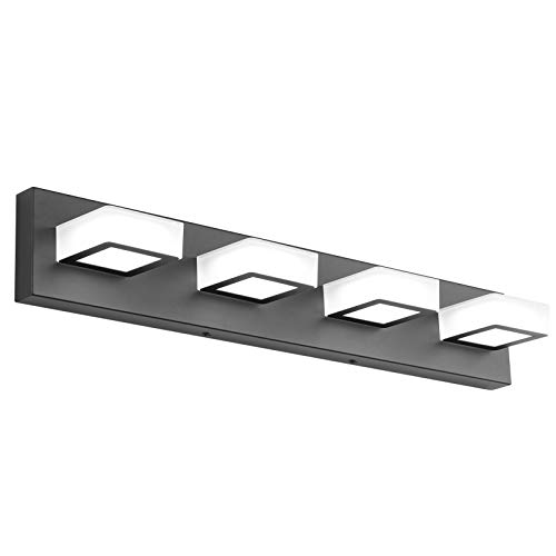 Ralbay LED Black Vanity Lights 4 Lights Acrylic Bathroom...