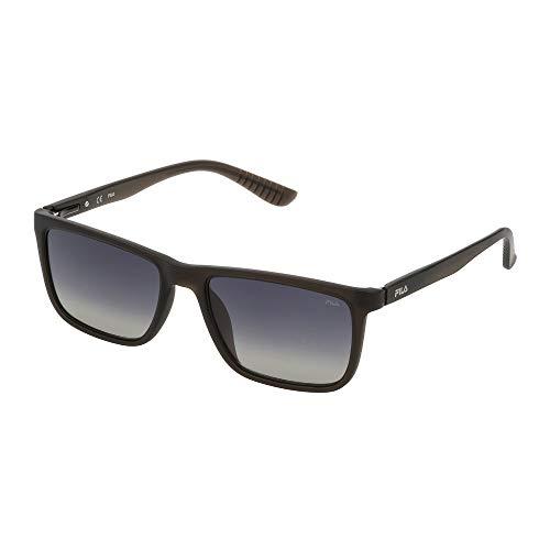 Fila SF9245 6S8P 54-18-140 - Gafas de sol unisex (polarizadas), color gris translúcido mate