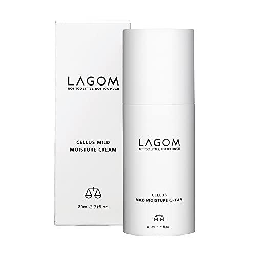 Lagom Cellus crème léger hydratation - 75 ml - Contient DermafluxTM, extrait de thé vert, β-glucanes, noisettes, centella asiatique