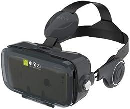 AYSM BOBOVR Z4 3D Cardboard Helmet Virtual Reality VR Glasses Headset Stereo Box for Mobile Phone(White) OMING (Color : Bl...