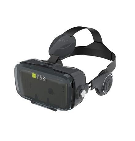 VR Equipos, Equipos de AR, Gafas 3D CTJ BOBOVR Z4 3D de cartón Casco de Realidad Virtual VR Vasos Auriculares estéreo Caja for el teléfono móvil (Blanco) (Color : Black)