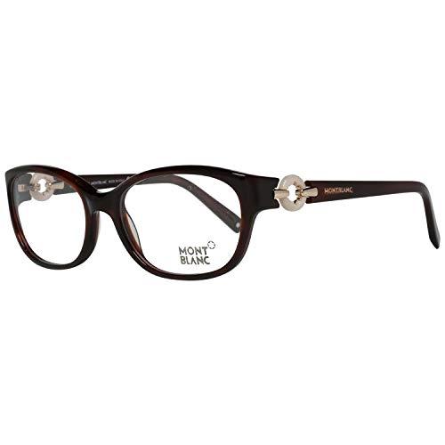 Mont Blanc Montblanc Brillengestelle Mb0442 052 Monturas de gafas, Marrón (Braun), 54.0 para Mujer