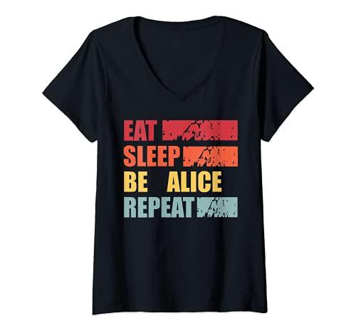 Mujer ALICE ALICE - Camisa con nombre personalizado Camiseta Cuello V