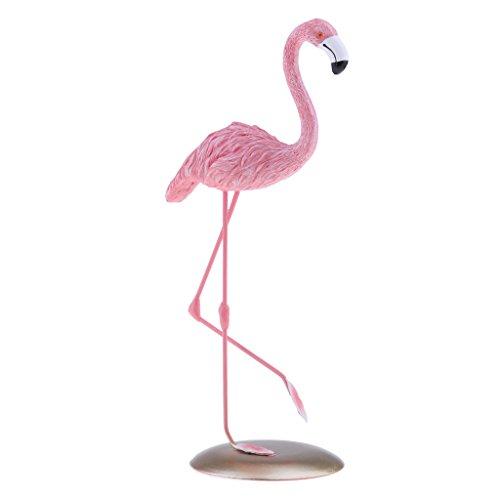 B Blesiya Flamingo Gartenfigur Gartenstecker der Hingucker für Garten Balkon Rasen Terrasse Innen oder Außen Deko, Wasserdicht - # 1 - S