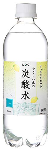 国産 LDC やさしい水の炭酸水 レモン 500mlPET×48本