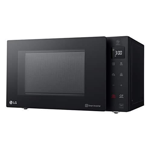 LG MH6535GIB Microondas Grill Smart Inverter Microondas 1000 W, Grill 900 W, Micro+Grill 1450 W, 25 litros de capacidad, Display LED, Plato interior 292 mm, Color Negro