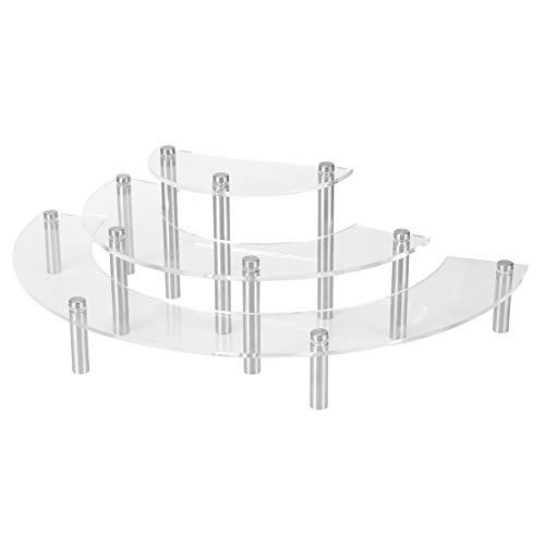 Cake Display Stand Cosmetic Storage Rack, 3 Tier Acrylic Dessert Cupcake Display Rack Spice Holder, for Home Store or Wedding Party Festival Decorations, Elegant Practical