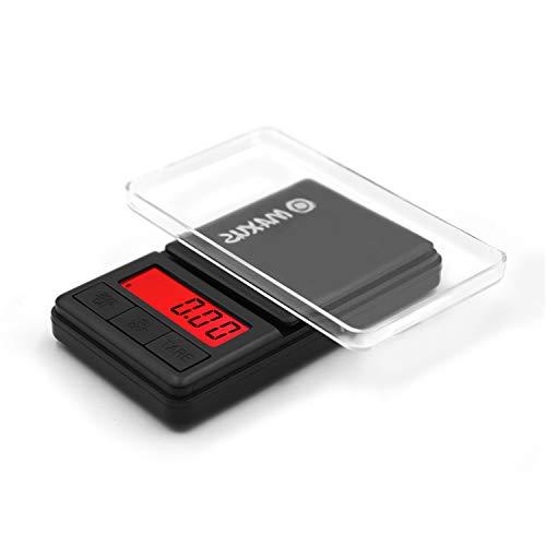 MAXUS Quick Super Mini Digital Pocket Scale w/ Tray 200g x 0.01g,Pocket Scale,Herb Scale,Grams Scale,Food Scale,Jewelry Scale,Kitchen Scale,Medicine Scale,Powder Scale,Small Scale,7oz x 0.001oz Black