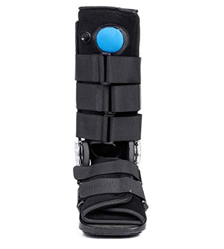 Botas cortas de andador de fracturas, pie roto para reparar el tendón de Aquiles del andador, órtesis de tobillo, adecuado para la reparación del esguince articular y del tendón de Aquiles-black-X