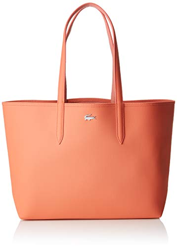Lacoste Damen Nf2142aa Schultertasche, Pink (Coral Lobster Bisque), 14x30x35 centimeters