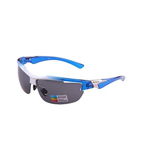 ZHAOXQ Occhiali da Sole, Protezione UV 100% di personalità degli Occhiali da Sole di Moda Sport Classic PC Lenti polarizzate Mezza Cornice è la Scelta Migliore for attività all aperto Anti-allergia