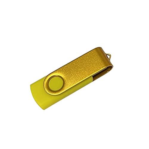 64GB USB 2.0Color rotating memory stick thumb driver LED Lamp for data Storage (64GB, Yellow)