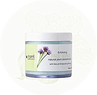 Organic Harvest EXFOLIATING FACE Scrub Natural Plant Derived Active with Natural Moisturizing Factors 100ge- 3.52oz