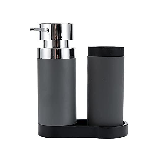 Felenny Dispensador de líquido para lavar platos, botella de silicona, detergente para exprimir, recipiente de almacenamiento, rellenable, líquido y jabón de manos, cocina y baño