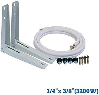 Kit de instalación: Soportes 400 mm+Tubo+Antivibradores+Tacos metálicos fijación a muro 1/4