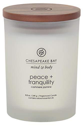 Chesapeake Bay Candle Scented Candle, Peace + Tranquility (Cashmere Jasmine), Medium