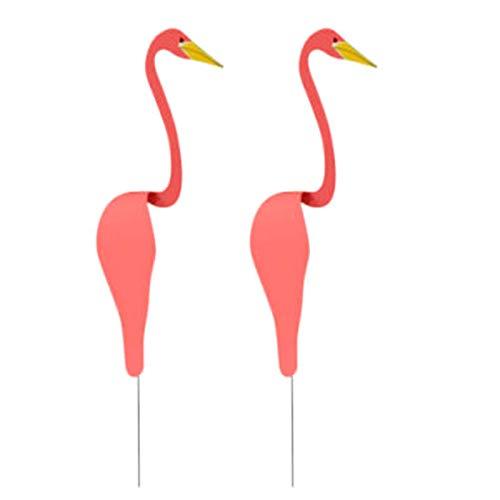 Elibeauty 2 Stück Wirbelnde Vögel für Outdoor-Gartendekorationen, kreative Gartenstatue für Hof- oder Gartenornamente (rot)