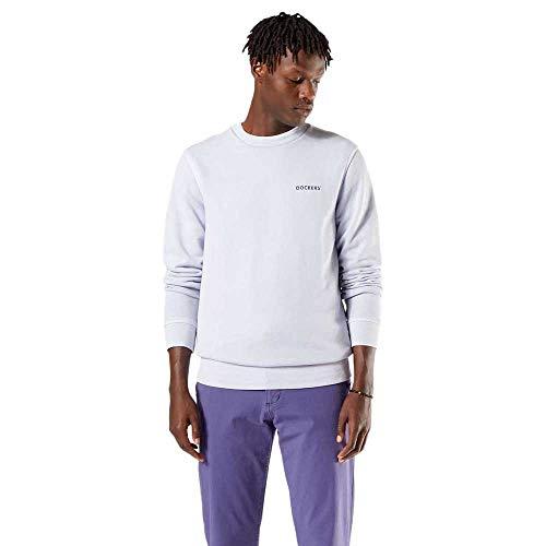 Dockers Logo Sweatshirt, Sudadera Hombre, Lilac Helado, L