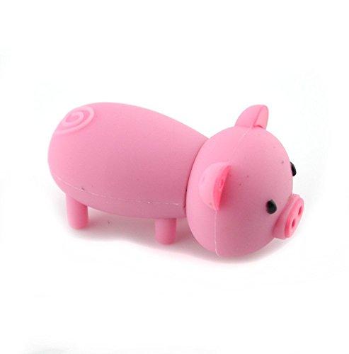 Enfain - Chiavetta USB 2.0 a forma di maialino, 16 GB, colore: Rosa