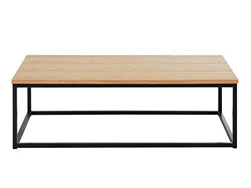 BAITA Brixton industriële salontafel, hout en zwart, 110 cm