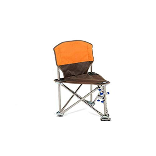 MOZUSA Silla Plegable de Nueva Silla Plegable heces portátil de Acero Inoxidable Triángulo Mazar Pesca al Aire Libre de heces, Naranja Hermosa
