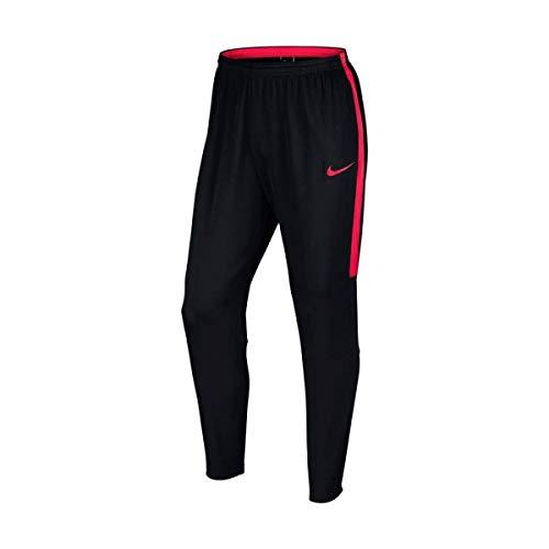Nike Herren Dry Academy Trainingshose, Schwarz/Schwarz/Sirene Rot/Sirene Rot, XL-52/54