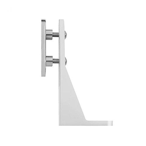 Aluguss Sichtschutz Halter für Bürotisch Schreibtisch Tisch Sichtschutzhalter (Weiß)