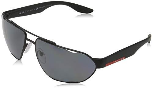 PRADA LINEA ROSSA 0PS 56US zonnebril Black Rubber, 66 voor heren