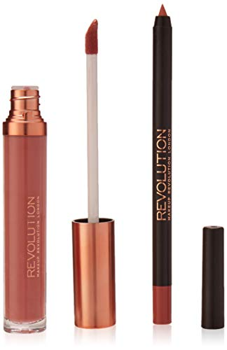 Makeup Revolution Retro Luxe Matte Lip Kit Reign, 2pezzi