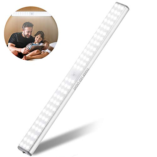 LED Closet-Light Super Bright 78 LED Under Cabinet Lights with Motion Sensor. Uniformly Lighting by Diffuser Cover. Ideal for Closet, Under Cabinet or Anywhere Dark…