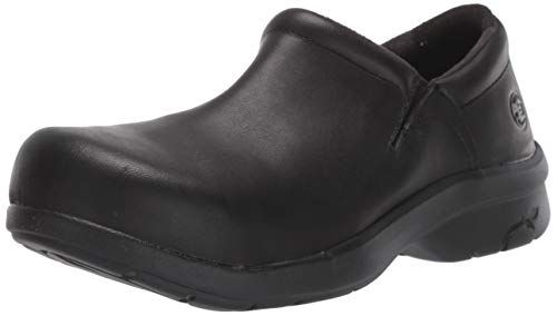 Timberland PRO womens Newbury Esd Slip-on-w health care and food service shoes, Black, 7.5 US